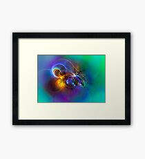 Warming up the cold - Cool Modern Colorful Abstract Fantasy Art Design Gifts Framed Print