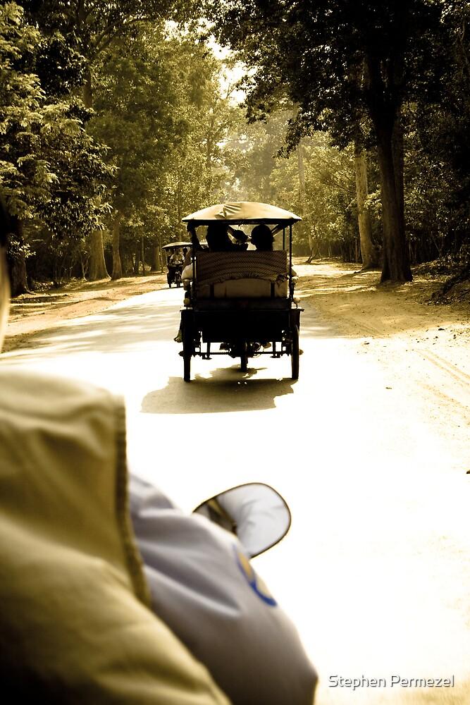 Tuktuk Chase - Siem Reap, Cambodia by Stephen Permezel