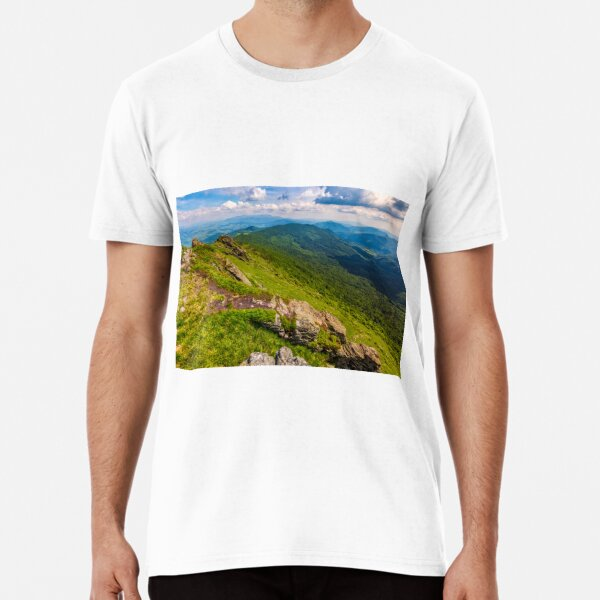 hill side with boulders in Carpathian mountains Premium T-Shirt