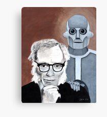 Asimov and His Robot Canvas Print