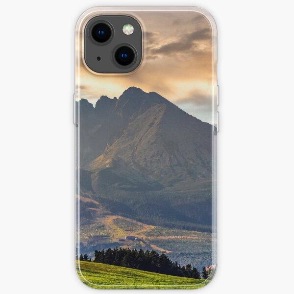 rural field in Tatra mountains iPhone Soft Case