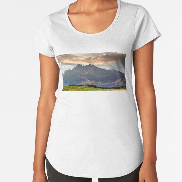 rural field in Tatra mountains Premium Scoop T-Shirt