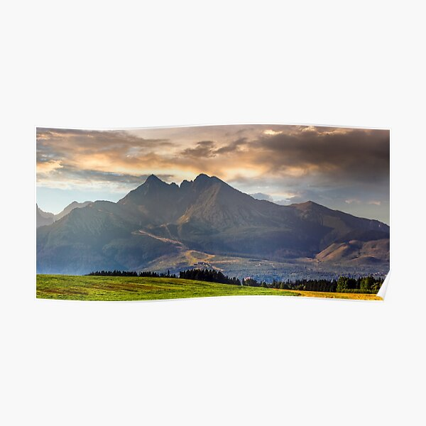 rural field in Tatra mountains Poster