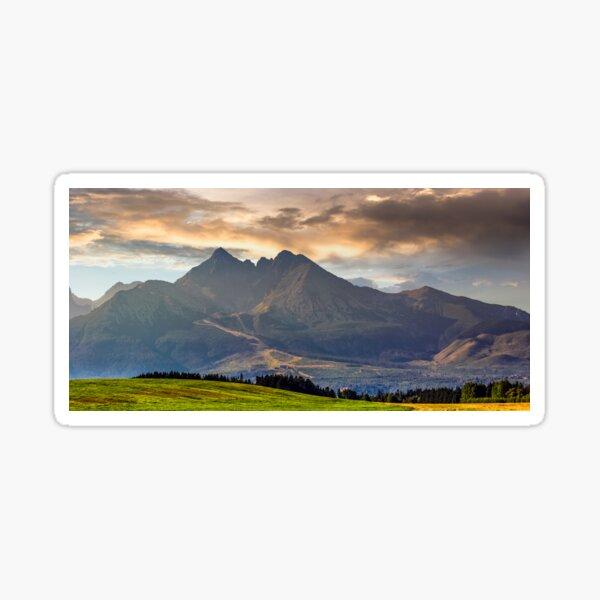 rural field in Tatra mountains Sticker