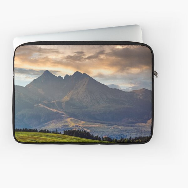 rural field in Tatra mountains Laptop Sleeve