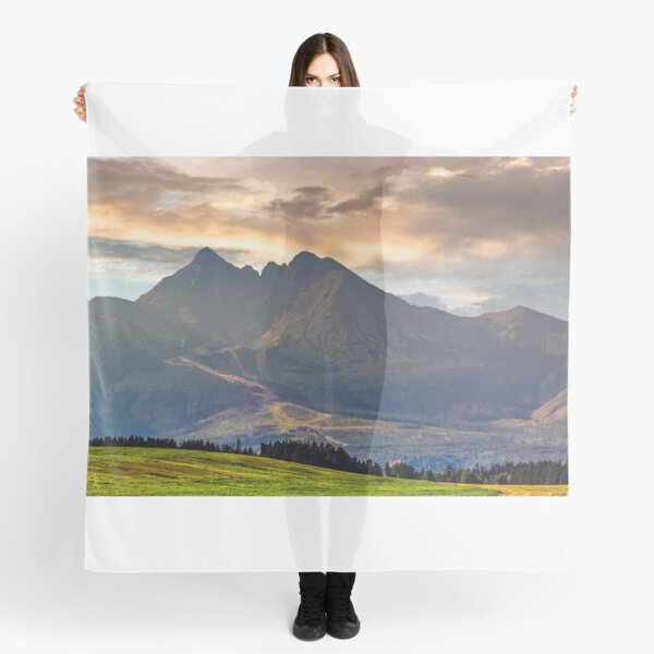 rural field in Tatra mountains Scarf