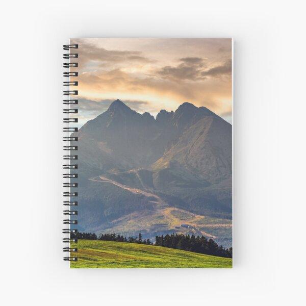 rural field in Tatra mountains Spiral Notebook