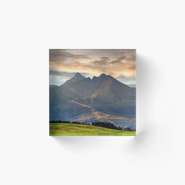 rural field in Tatra mountains Acrylic Block