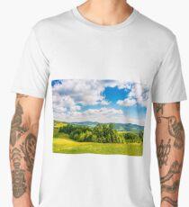 countryside summer landscape in mountains Men's Premium T-Shirt