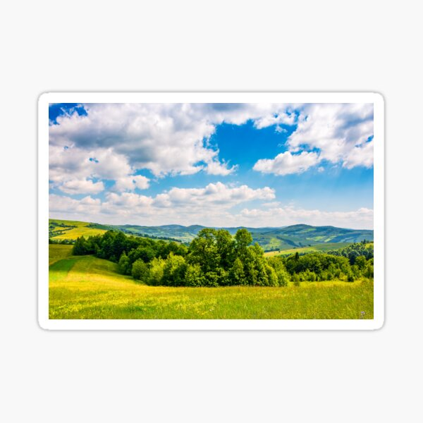 countryside summer landscape in mountains Sticker