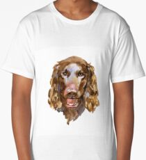 American Water Spaniel in watercolor Long T-Shirt