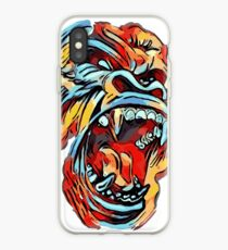 Dope Angry Gorilla - primary colors - ROAR iPhone Case