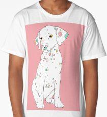 Colourful Dalmatian puppy illustration  Long T-Shirt