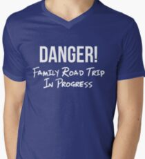 Danger Family Road Trip Shirt Funny Group Vacation Roadtrip Tee Mens V Neck T
