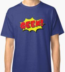 Geek, Nerd, Cartoon Shape Classic T-Shirt
