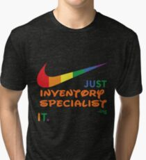 inventory specialist best collection 2017 tri blend t shirt