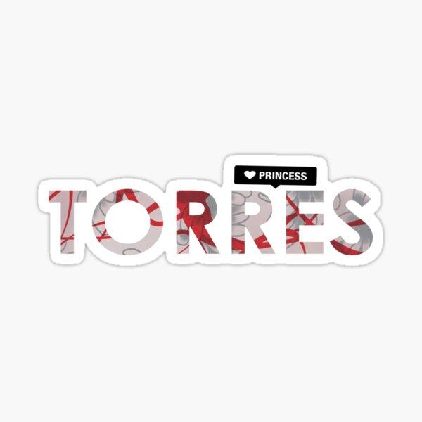 Nombre del casquillo de Scrub Torres Pegatina