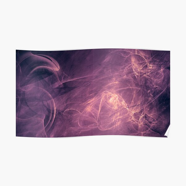 purple alien space dreams composite abstract background Poster