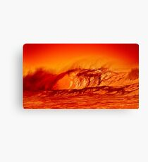 Surf at the edge of volcano Canvas Print