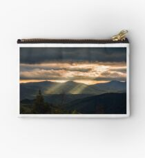 Carpathian valley at cloudy sunset Studio Pouch