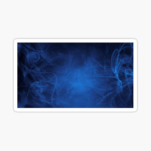 blue alien space dreams composite abstract background Sticker