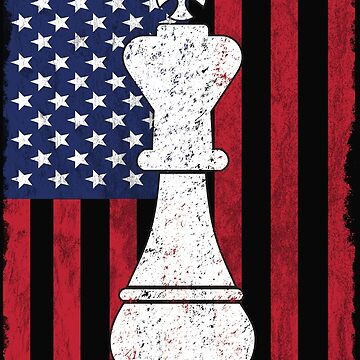 Chess USA Flag Design - King by kudostees