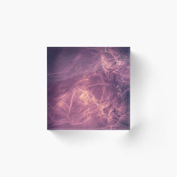 purple alien space dreams composite abstract background Acrylic Block
