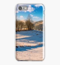 foggy morning in winter mountains iPhone Case/Skin