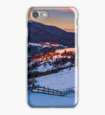 epic red sunrise in Carpathian countryside iPhone Case/Skin