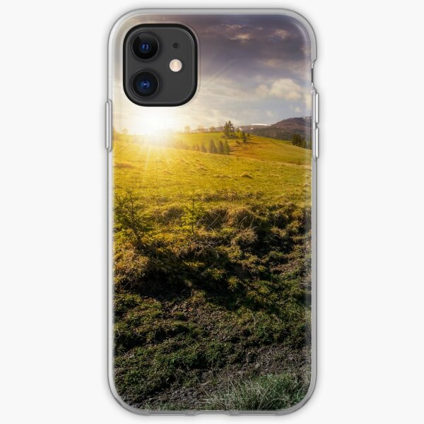snowy tops of carpathians in springtime iPhone Soft Case