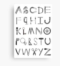 Object Alphabet Canvas Print