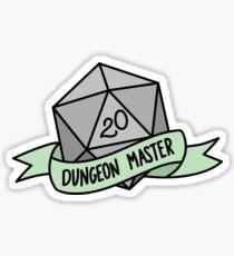 D20 - Dungeon Master Sticker