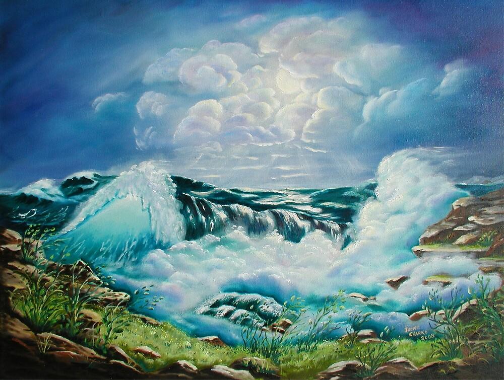 Ocean Waves by Irene Clarke