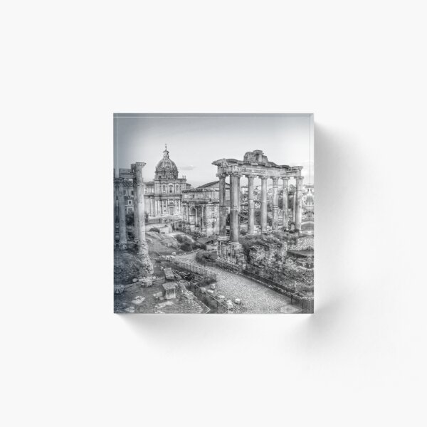 Foro Romano in black and white  Acrylic Block