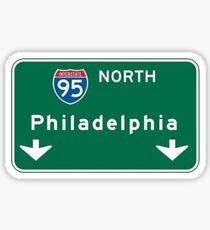 Philadelphia road sign Sticker