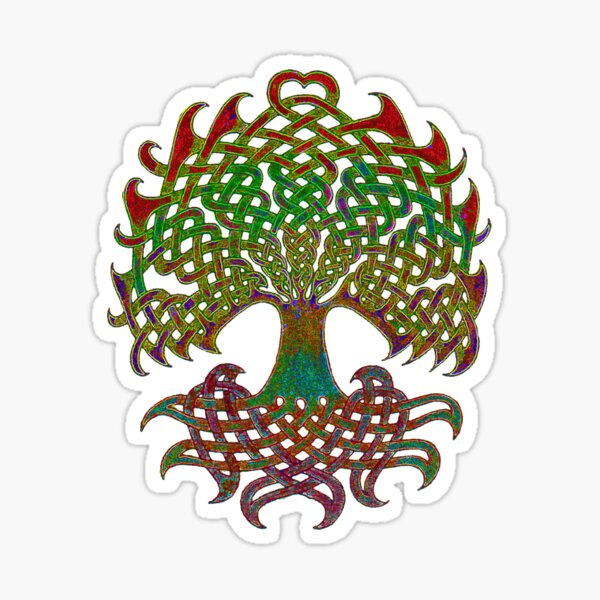 Celtic Knot Tree of Life Sticker