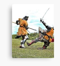 Knight Fight Canvas Print