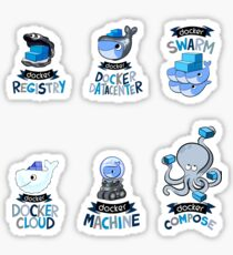 docker set 2 Sticker