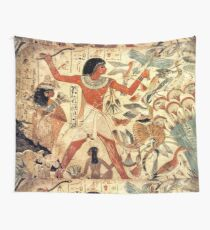 Ancient Egyptian Couple Hunting Wall Tapestry