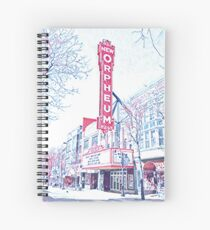 Orpheum Theater & State Street in Madison, Wisconsin Spiral Notebook