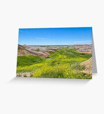 River of Green at the Badlands Greeting Card