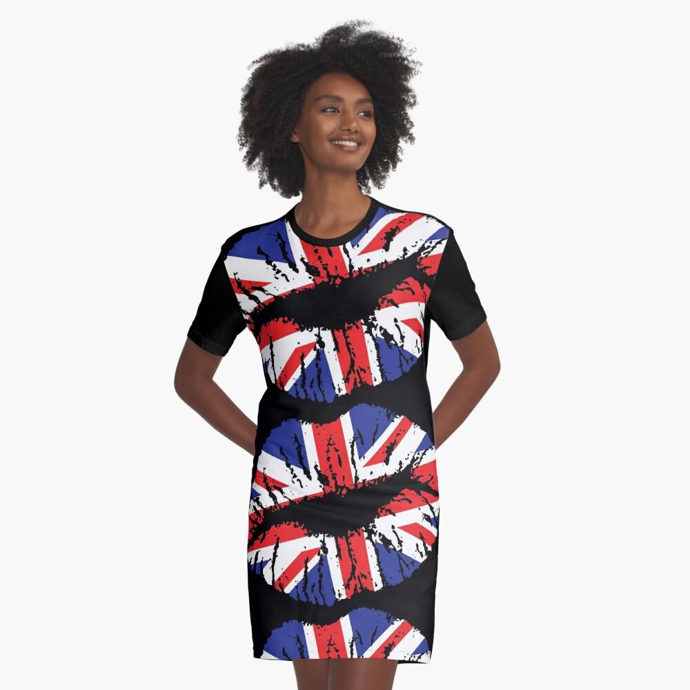 British Lips Graphic T-Shirt Dress