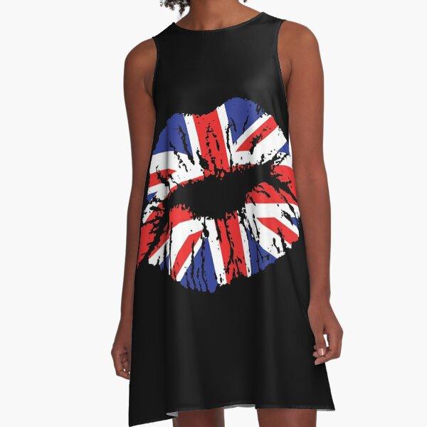 British Lips A-Line Dress