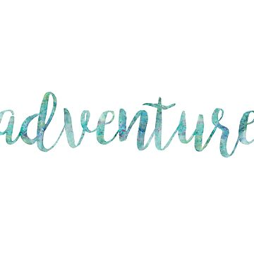 Adventure Watercolor Wanderlust Quote by whimseydesigns