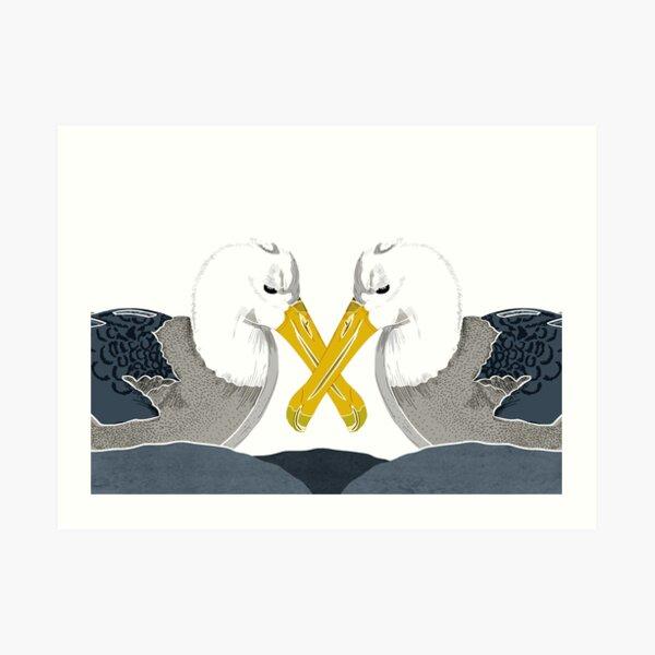 Albatross in Love Art Print
