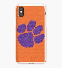 Purple and Orange Tiger Paw iPhone Case/Skin