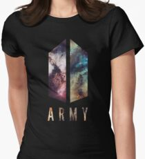 Army Nebula New logo Womens Fitted T-Shirt