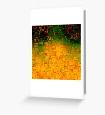 Lights from the city at night Greeting Card