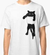 Hang loose black cat pocket art  Classic T-Shirt