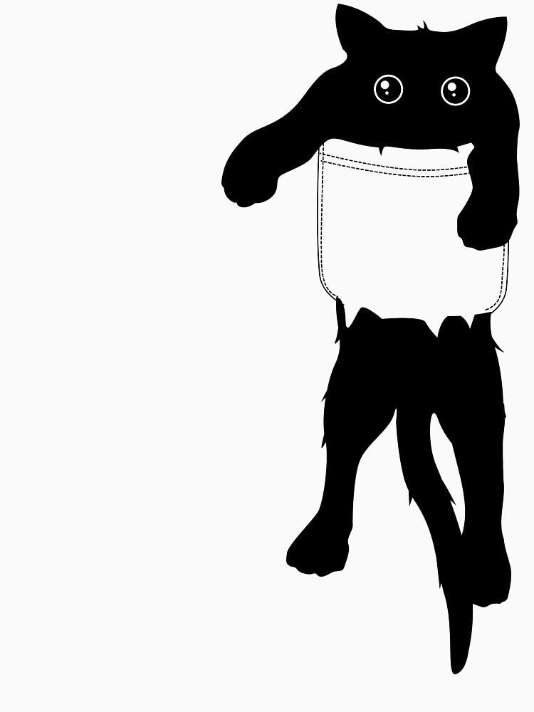Hang loose black cat pocket art by masatomio
